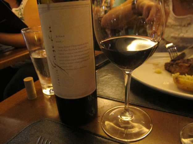 O segundo vinho da  noite.. Escorihuela Gascón Syrah.. O mais básico da vinícola estava redondinho..