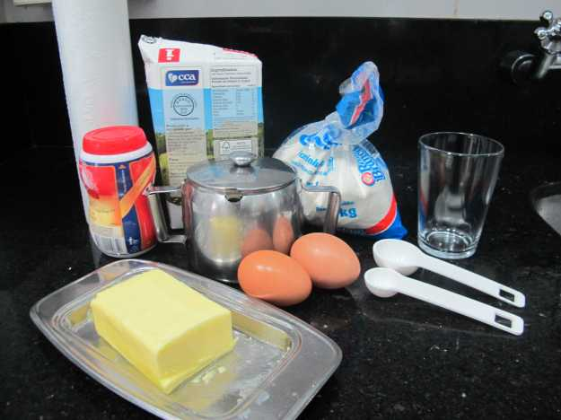 Importante separar todos os ingredientes antes de começar a preparação..